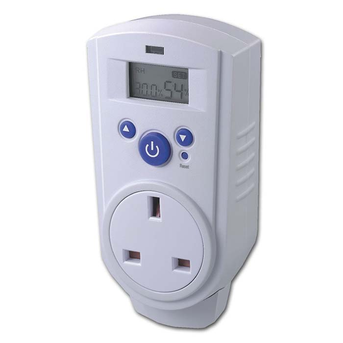 Digital Thermo/ hygrostat Play Plugs in for controlling heater, dehumidifier and humidifier